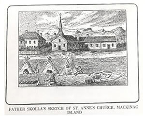 Father Skolla's Sketch of Ste. Anne's Church