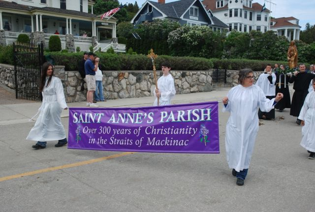 banner - Ste. Anne's Church, Mackinac Island